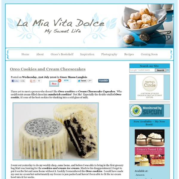 Oreo Cookies-Recipe Oreo-Oreo Recipes-Cheese Cupcakes-Oreo Cheesecakes