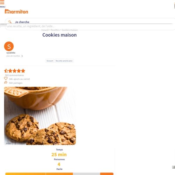 Cookies maison : Recette de Cookies maison