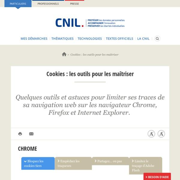 Cookies : les outils pour les maîtriser