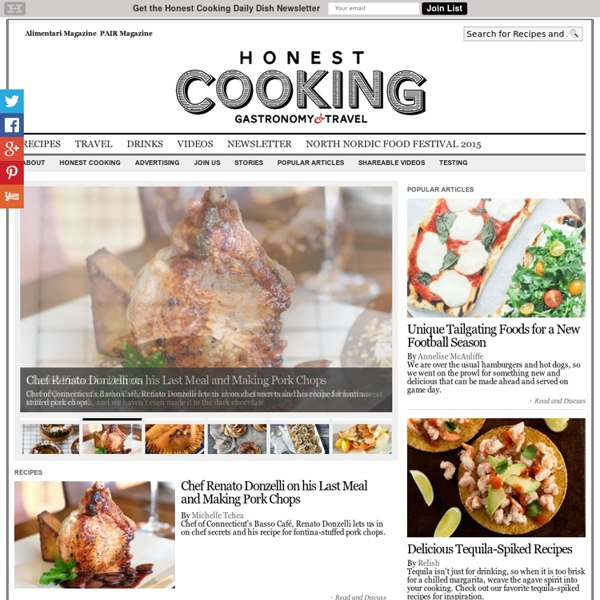 Honest Cooking - Food News