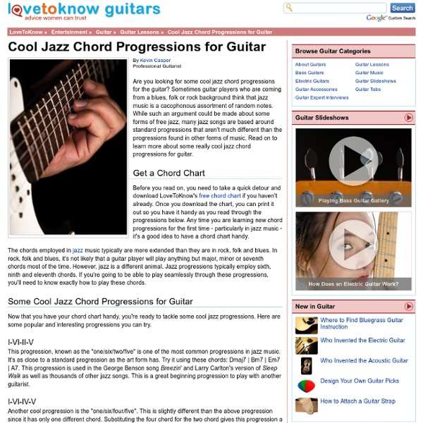 cool jazz chord progressions for guitar pearltrees. Black Bedroom Furniture Sets. Home Design Ideas