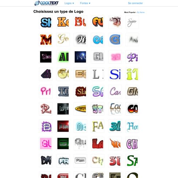 Cool Text: Choisissez un design pour votre logo