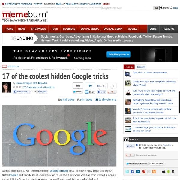 17 of the coolest hidden Google tricks