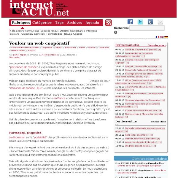 Vouloir un web coopératif