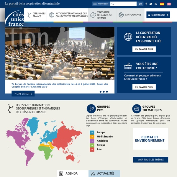 Cités Unies France – Site Web de la coopération décentralisée