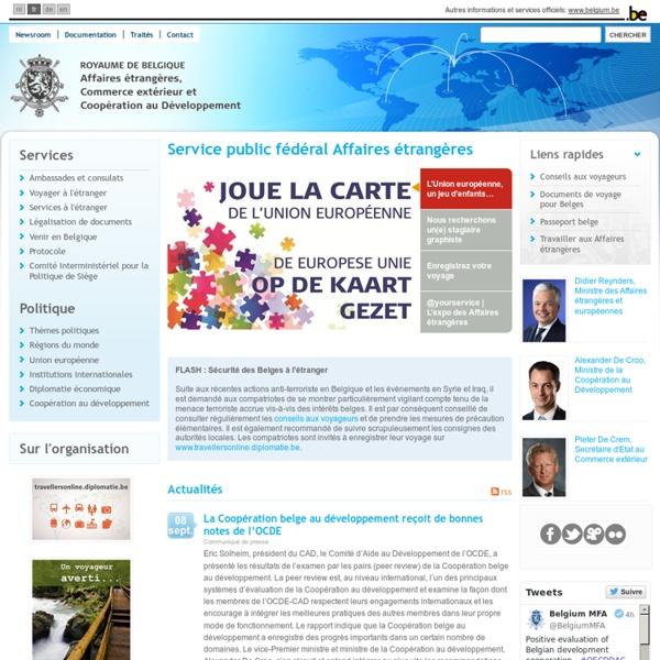 Page d'accueil - Affaires étrangères, Commerce extérieur et Coopération au Développement