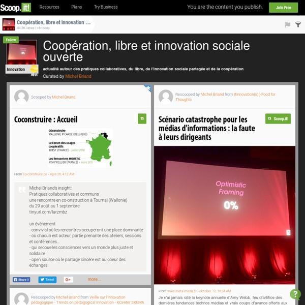 Coopération, libre et innovation sociale ouverte