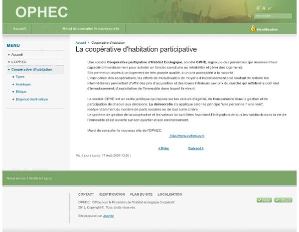 La coopérative d'habitation participative