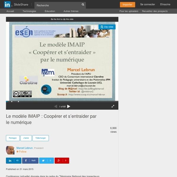 Le modèle IMAIP : Coopérer et s'entraider par le numérique