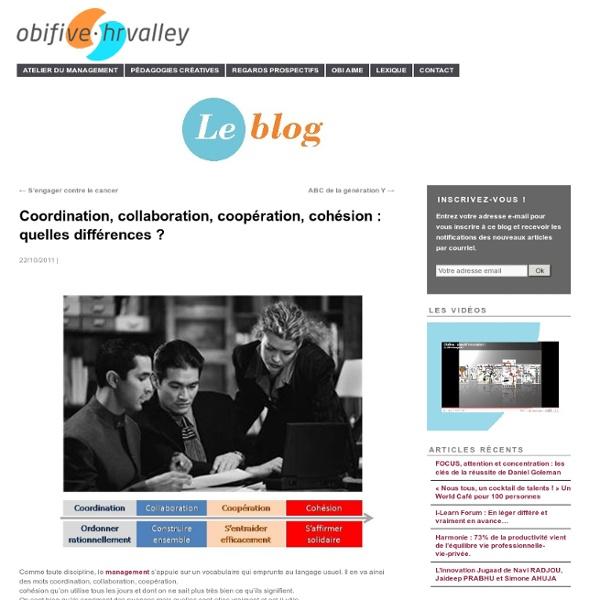 Coordination, collaboration, coopération, cohésion : quelles différences ?