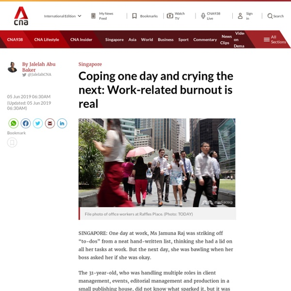 Coping one day and crying the next: Work-related burnout is real