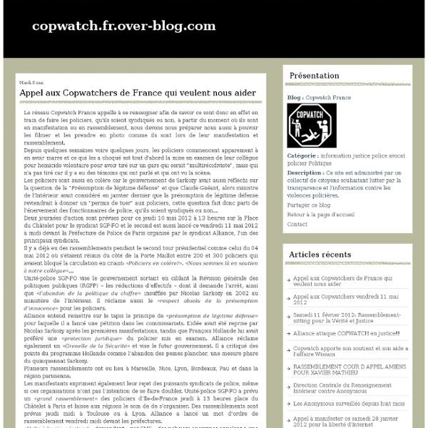 Copwatch France