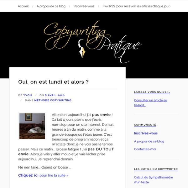 Copywriting pratique : Le blog de référence pour vendre plus