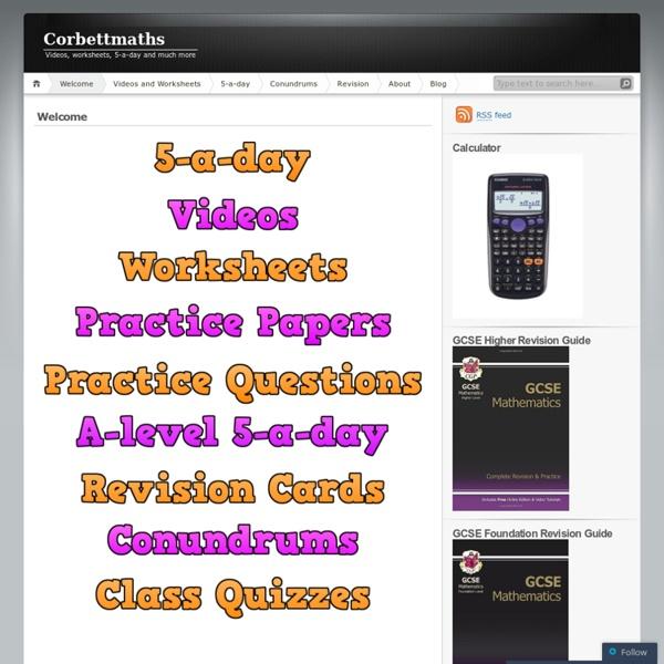 Mr Corbett's maths page