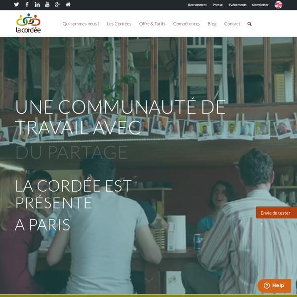 La Cordée Coworking : travail et convivialité à Lyon et Paris