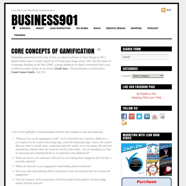 Core Concepts of Gamification