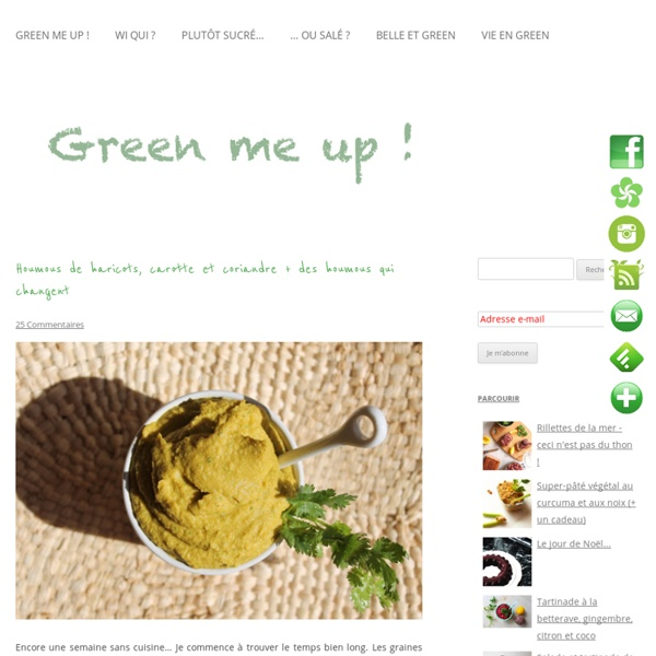 Houmous de haricots, carotte et coriandre + des houmous qui changentGreen me up ! – Cuisine bio végétale, écologie du quotidien