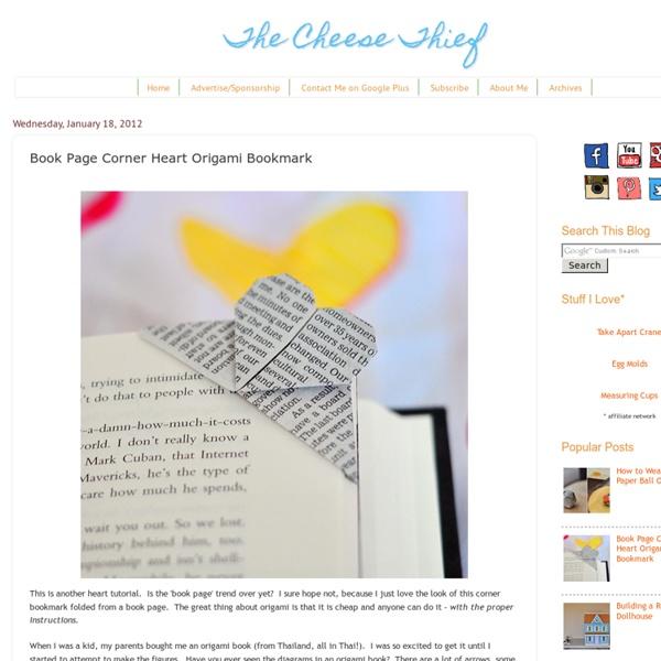 Book Page Corner Heart Origami Bookmark
