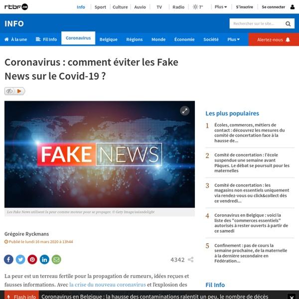 RTBF: comment éviter les Fake News sur le Covid-19?