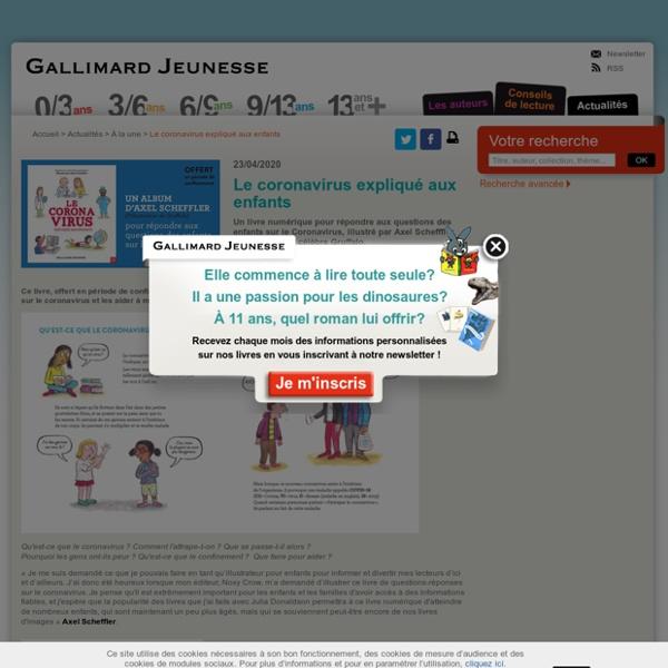 Le coronavirus expliqué aux enfants - Gallimard