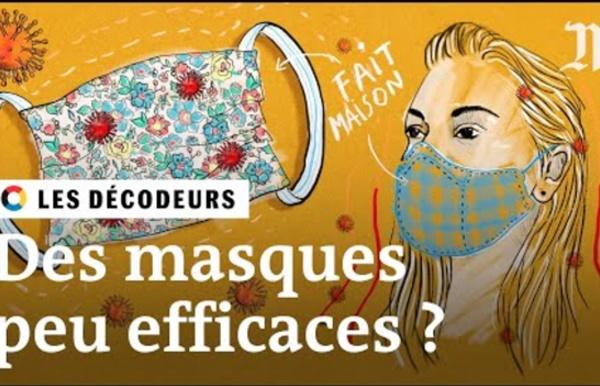 Coronavirus : les masques faits maison sont-ils efficaces ?