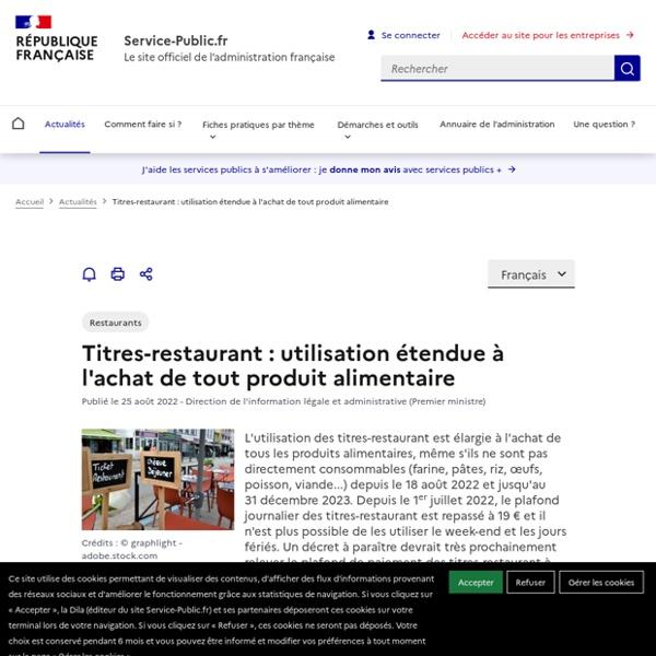 Épidémie de Coronavirus (Covid-19) -Vos tickets restaurant2020 sont utilisables jusqu'au 1erseptembre2021