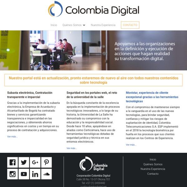 Corporación Colombia Digital - Actualidad, proyectos y generación de opinión sobre nuevas tecnologías