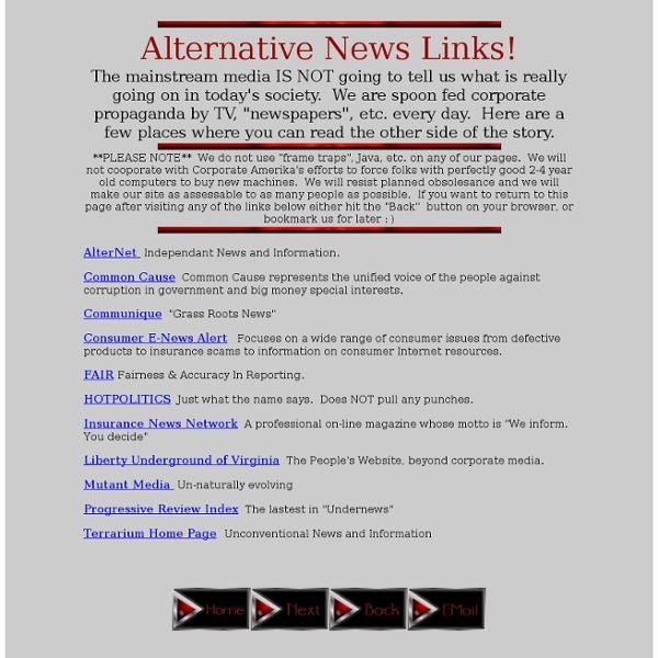 Corporate Wars-Alternative News Links