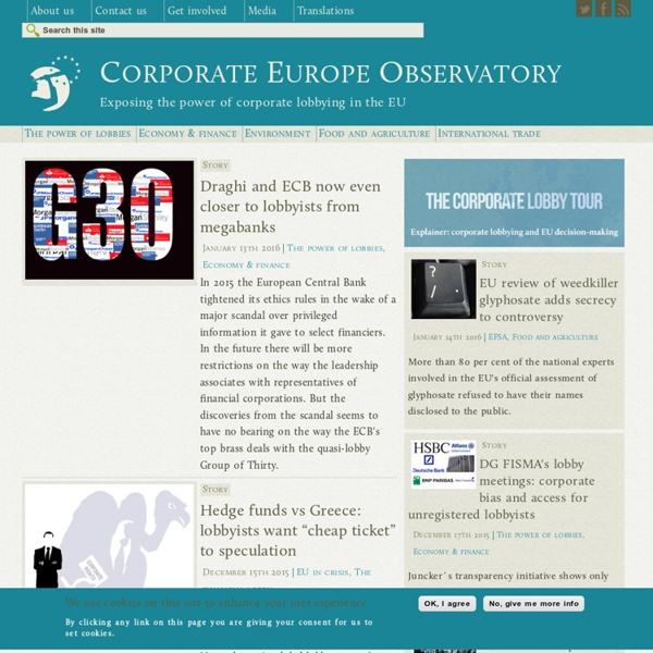 Exposing the power of corporate lobbying in the EU