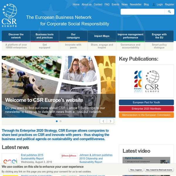 The European Business Network for Corporate Social Responsibility