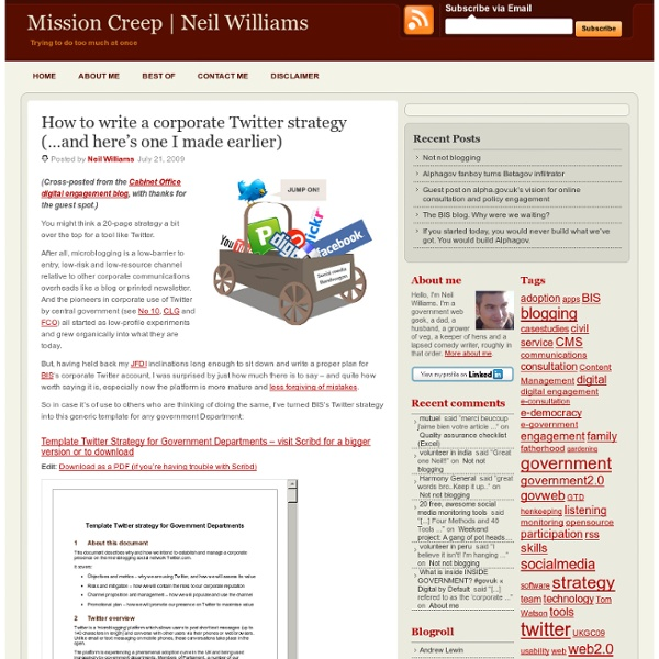 How to write a corporate Twitter strategy (…and here's one I mad