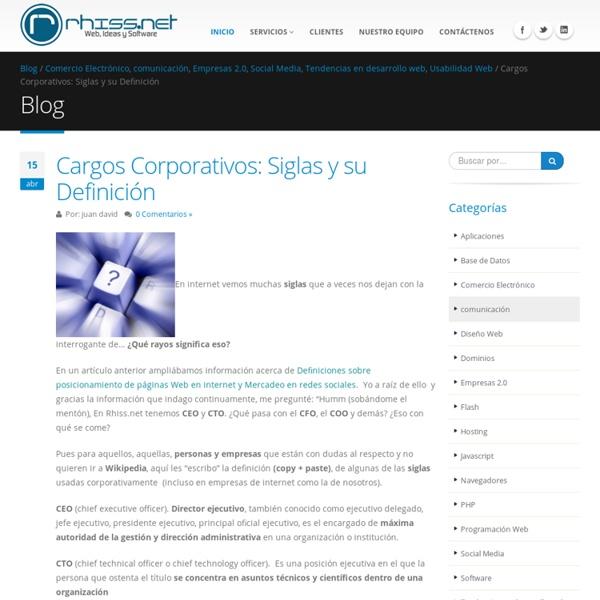 Cargos Corporativos: Siglas y su Definición