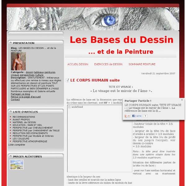 LE CORPS HUMAIN suite - L'ABC DU DESSIN et de la PEINTURE