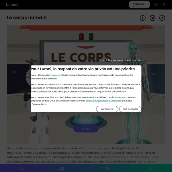 Lumni Module pédagogique de Curiosphère sur l'anatomie humaine.