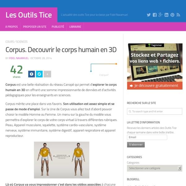 Corpus. Decouvrir le corps humain en 3D