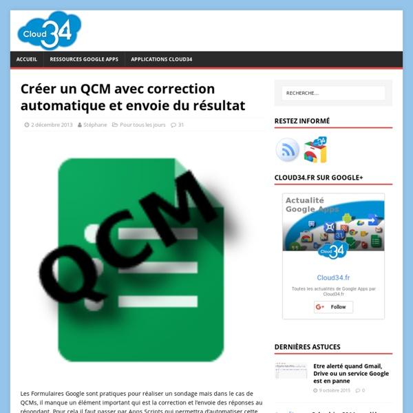 Créer un QCM avec correction automatique et envoie du résultat