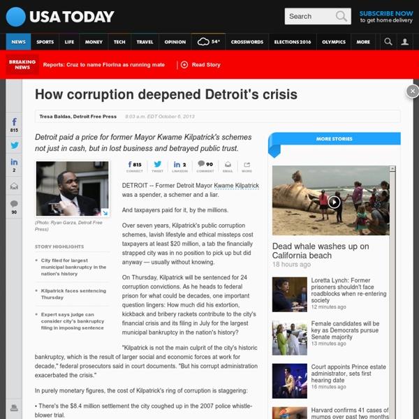 How corruption deepened Detroit's crisis