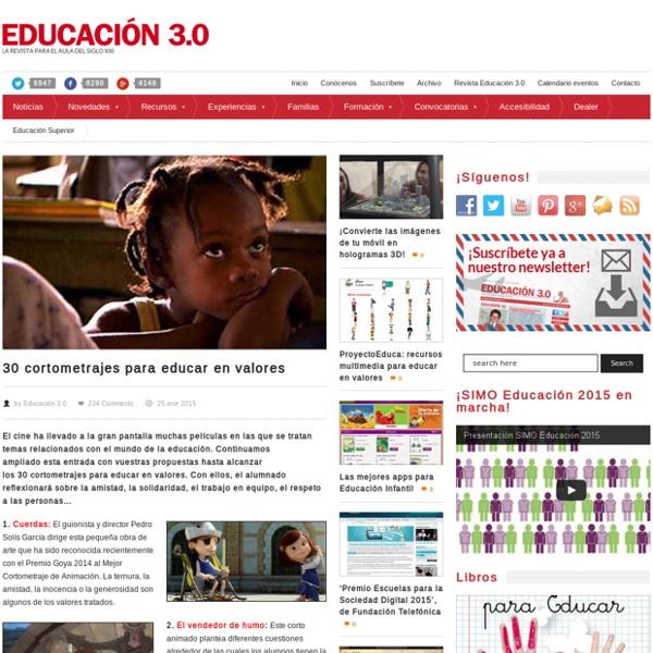 30 cortometrajes para educar en valores