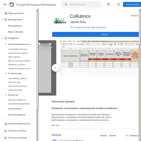CoRubrics: permite elaborar instrumentos de evaluación