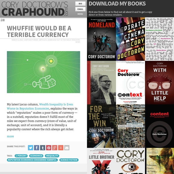 Cory Doctorow's craphound.com » News