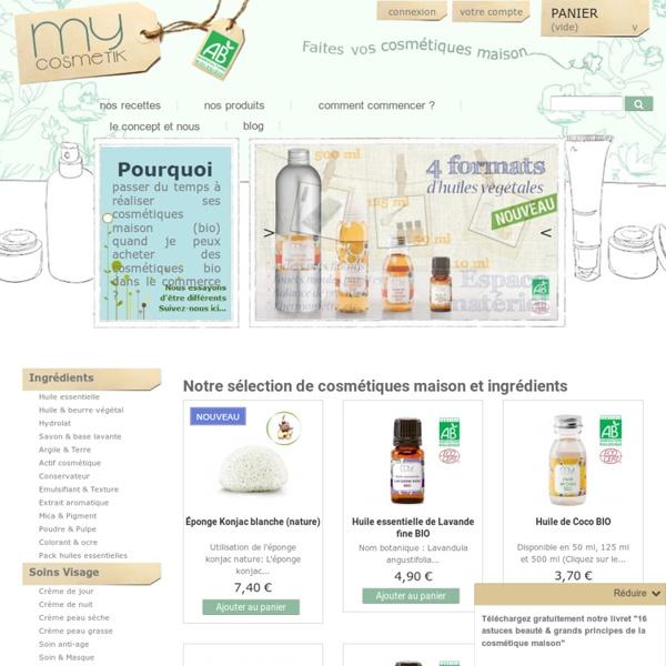 Faire ses cosmétiques maison - Vente d'ingrédients cosmétiques naturels et bio