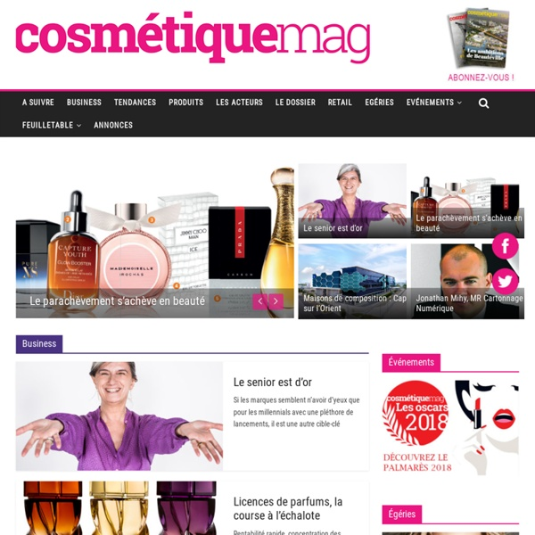 Le site des professionnels du marché de la beauté - Cosmetiquemag.fr