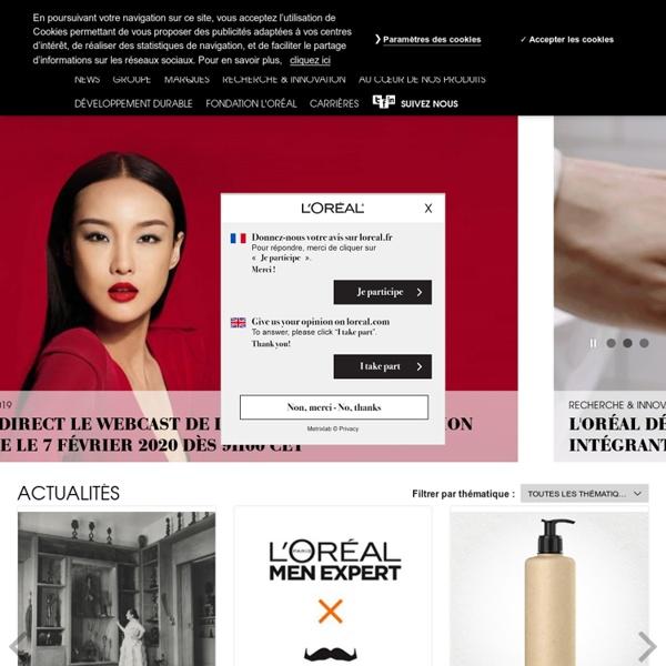 L'Oréal, leader mondial de la beauté : maquillage, cosmétiques, soins capillaires, parfums - L'Oréal Groupe