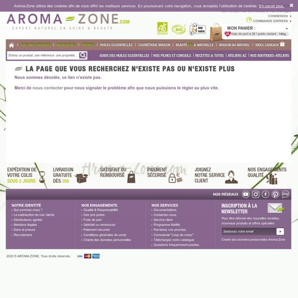Fiches techniques, recettes cosmétiques et autres documentations Aroma-Zone