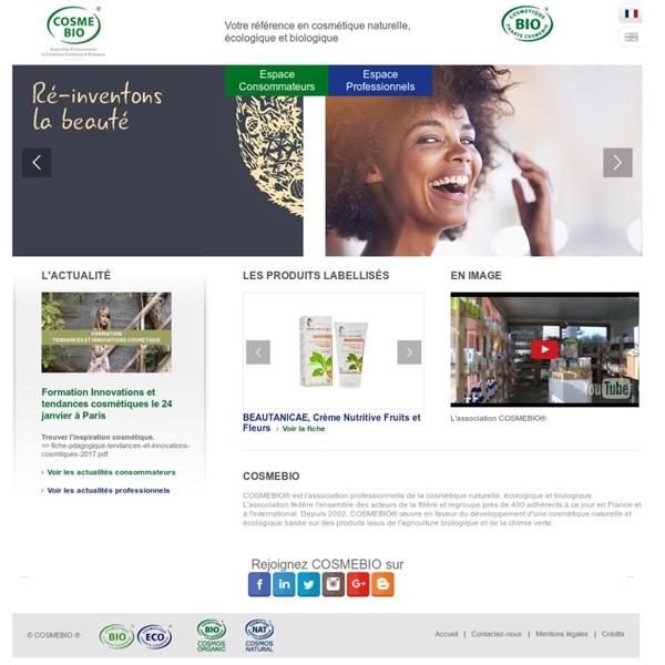 Cosmetique Bio - produits écologique et biologique - Cosmébio