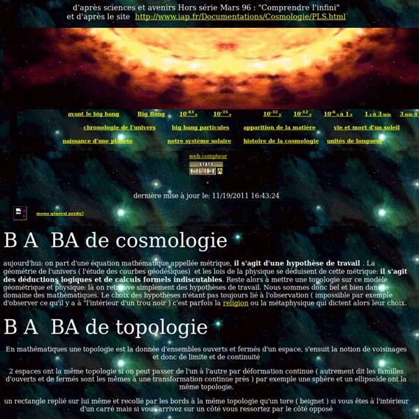 Cosmologie big bang topologie