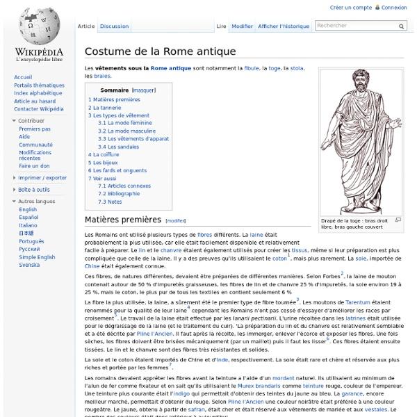 Costume de la Rome antique