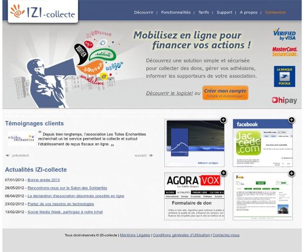 IZI-collecte : collecte de dons, diffusion de newsletters