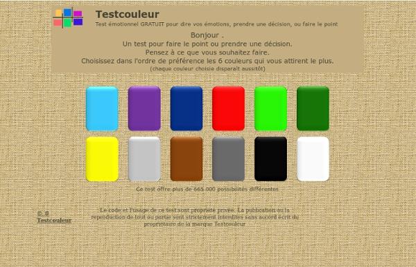 Test couleur : Test émotionnel GRATUIT pour dire vos émotions
