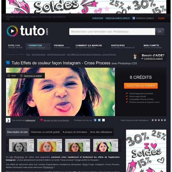 Effets de couleur façon instagram - cross process avec Photoshop CS5 sur Tuto